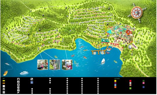 Village map of Center Parcs Park Bostalsee at Park Bostalsee