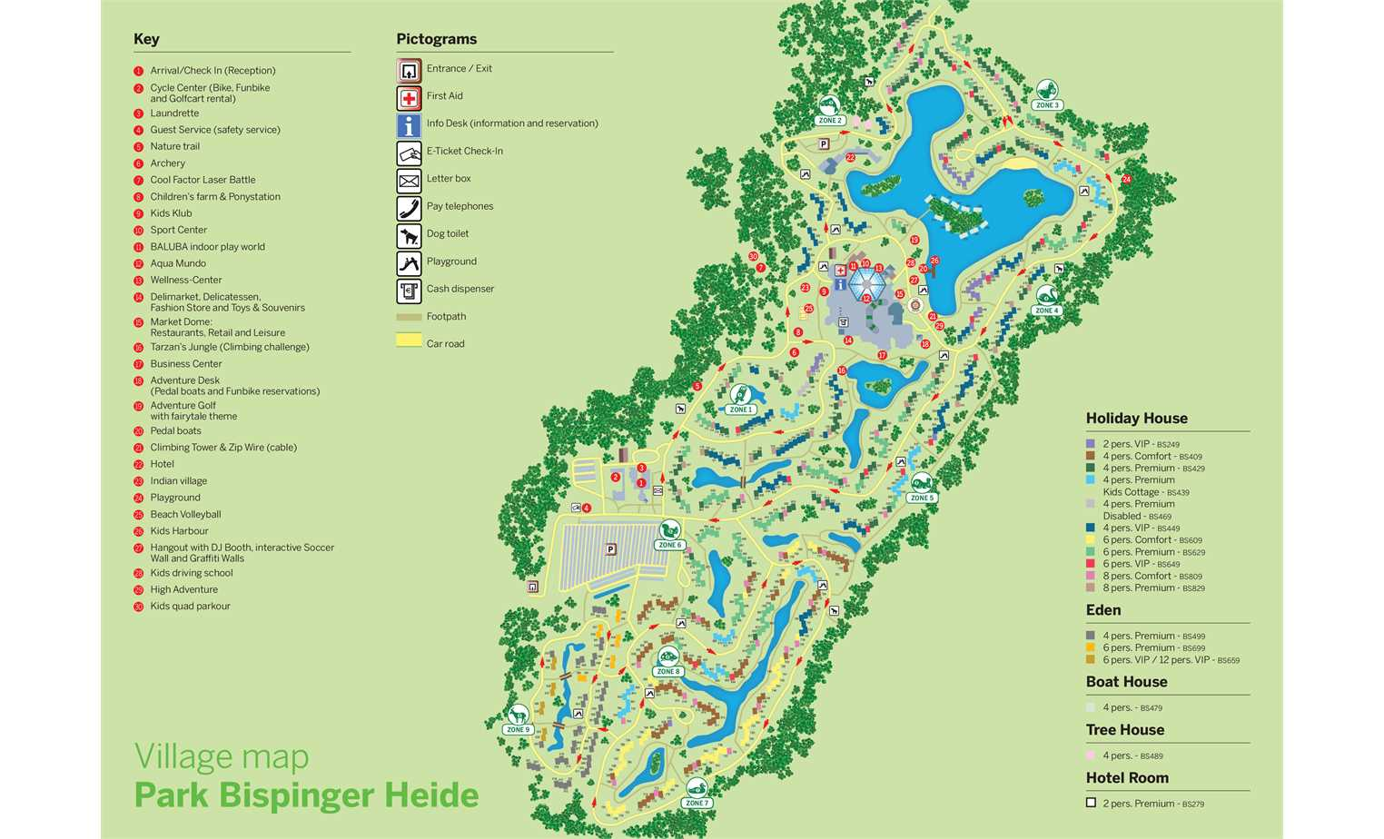 Map of Center Parcs Bispinger Heide